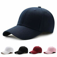 Men Women Sunhat Plain Adjustable Baseball Cap Curved Visor Solid Hip-Hop Casual