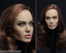 "1/6 Angelina Jolie Female Women Girl Head F Hot Toys 12"" Action Figure HT Body"