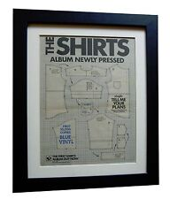 THE SHIRTS+Tell Me Your Plans+POSTER+AD+ORIGINAL 1978+FRAMED+EXPRESS GLOBAL SHIP