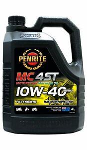 Penrite MC-4ST 4 Stroke Oil Full Synthetic 10W-40 4L