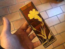 Jugendstil Vase Art Nouveau Cristal Fleurs Dorure Vers 1900 Non Signé