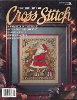 For The Love Of Cross Stitch Magazine Jan 1994 Santa Guardian Angel Poinsettia
