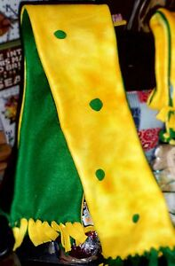 **NEW** Green Bay Packers Double Fleece Child's Cheesehead Scarf! GO PACK GO!!!