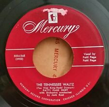 """Patti Page Duet Mercury 5534 """"THE TENNESSEE WALTZ"""" (GREAT COUNTRY) FREE SHIPPING"""