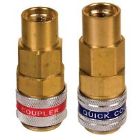 R134a STRAIGHT Quick Coupler Set HIGH & LOW Side, 14mm, FJC, Part# 6013