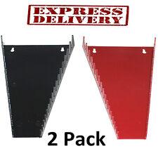 Wrench Organizer Holder 2 Pack Tool Box Storage Sockets Tray Rail Sorter Rack