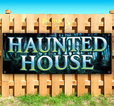 Haunted House Sign Advertising Vinyl Banner Flag Sign Usa 15 18 20 30 48