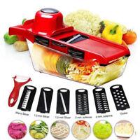 Vegetables Slicer Stainless Food 6 Blades Cutter Friut Mandoline Grater Chopper