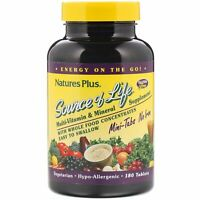 Nature's Plus, Source of Life, Multi-Vitamin & Mineral Supplement, No Iron, 180