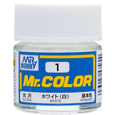 GSI CREOS GUNZE MR HOBBY Color C001 C1 White LACQUER PAINT 10ml MODEL KIT NEW