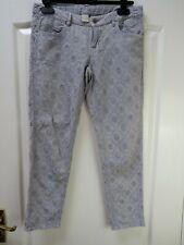 "New WRAP LONDON ""Fleur"" Linen Blend Ankle Grazer Jeans Trousers Size 10 Crop"