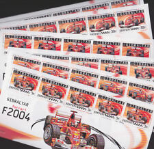 Gibraltar 2004 Mint MNH 6 Minisheets Ferrari Formula 1 Racing Cars Grand Prix