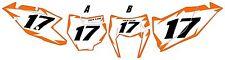 2017 KTM 250 EXC-F Custom Pre-Printed White Backgrounds Orange Shock Series