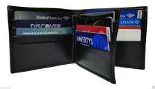 ENZ Men's Leather Wallet 2 Bill Sections 12 Card Slots 1 ID Slot