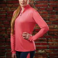 Dublin Airflow Ladies Long Sleeve Technical Horse Riding Base layer - SALE- ROSE