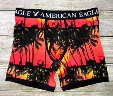Mens American Eagle Sunset Tropical Palms Regular Length Boxer Brief S (29/31)