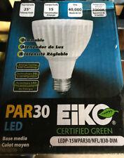 (1) EIKO R30/15W/27K CFL Recessed  Flood LED Light Bulb LOC C