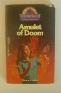 *TWILIGHT # 24 Amulet Of Doom by Bruce Coville (1985 Paperback)