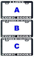 Comic book books funny assorted license plate frame tag holder