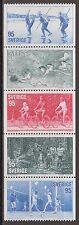 Schweden Sverige 976-980 ** 1977 Sport Eislanglauf,Radfahren,Schwimmen ...
