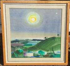 Frank Joseph Archer 1912-1995 original signed painting Moonlight Valley Exmoor