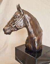 "9"" Quarter Horse Bust, faux bronze, trophy, award"