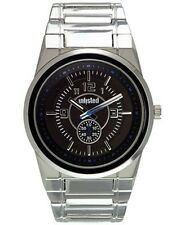 Unlisted Kenneth Cole 10024652 Metal Watch Stainless Steel Caseback Black Dial