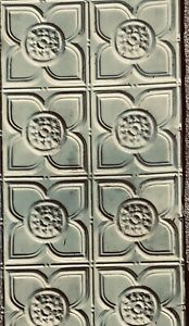 Vintage Antique Metal Tin Ceiling Tile 4'x2' Reclaim Architectural Create Design