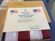 America Flag Flown Over US Capitol 200th Anniversary of the Constitution w/ COA