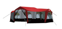 Tahoe Gear Carson 3 Season 14 Person Large 25 x 17.5 Ft Family Cabin Tent, Red