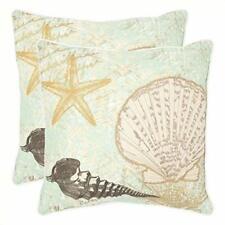 "ONE Safavieh Decorative Pillow EVE Starfish Seafoam Green 22"" BEACH  SHELL"