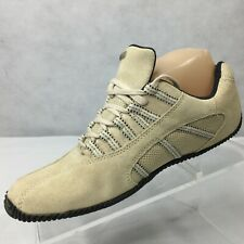 ROOTS Sport Sneakers Driving Sz 7 M Cream Tan Walking Shoes Lace Up Mens