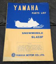 Original 1974 Yamaha SL433F Snowmobile Parts List/Manual LIT-10018-61-00 SL-433F