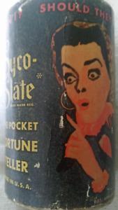 1940s Syco Slate Pocket Fortune Teller Alabe Crafts Precursor to Magic 8 Ball