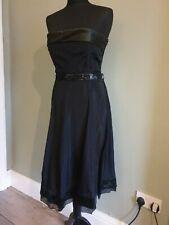 Vintage D&G Dolce & Gabbana dress. Black, strappless. EUR46 (UK14) BNWT