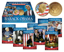 Lot of 4 BARACK OBAMA 2009 Commemorative Coin 24K Gold Plated plus 44-Card Set