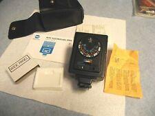 Minolta Auto 200X  Camera Flash  Shoe Mount users manual soft case wide panel