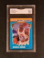 gma 💥💥 GEM MINT 10 💥💥 1990 FLEER ALL-STAR MICHAEL JORDAN #5 PSA are $1000+
