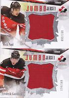 15-16 Team Canada Juniors Frederik Gauthier /199 Jumbo Jersey Upper Deck 2015