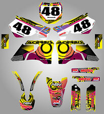 Full Custom Graphic Kit Yamaha YZ 125  - 1996 - 2001 NEON style stickers decals