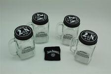 4x Jack Daniels Lynchburg Lemonade Glas Original mit Deckel und Rezept