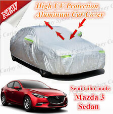 Premium UV Rain Protection Waterproof Aluminum Car Cover Medium Mazda 3 Sedan