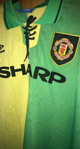 Retro Manchester United 1992-94 Medium Shirt Newton Heath Man Utd Jersey CANTONA