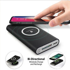 10000mAh Power Bank 2 in 1 Wireless Charger Case Kit Portable No Battery Safety