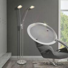 vidaXL Lámpara de Pie Moderna Regulable Luz LED 10 W Acero Satinado Niquelado