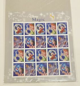 DISNEY 41 Cent U.S.A. STAMPS - FULL PANE - Magic SERIES - 20 Stamps. New/Sealed