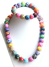 Hot-Sale Bohemia Floral Polymer Clay Beads Necklace Bracelet Jewelry Sets New