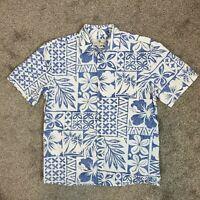 Island Shores Hawaiian Men's Shirt 1550 Short Sleeve Button Down Cotton Sz M
