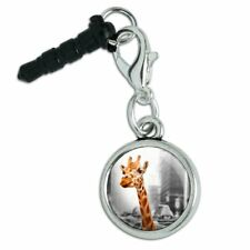 Giraffe in Taxi Mobile Cell Phone Headphone Jack Charm fits iPhone iPod Galaxy