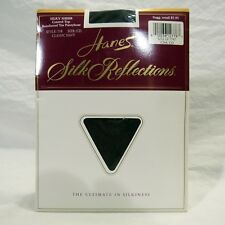 Hanes Silk Reflections Pantyhose Silky Sheer Control Top Size CD Classic Navy